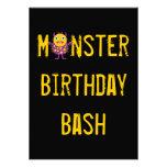 Invitaciones locas de la fiesta de cumpleaños de l comunicados personalizados
