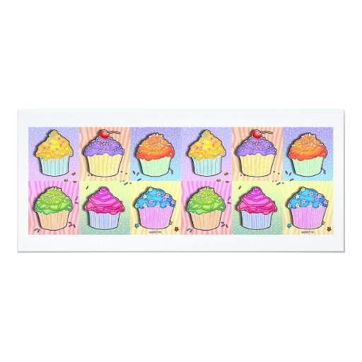 Invitaciones - magdalenas del arte pop invitación 10,1 x 23,5 cm