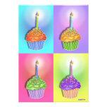 Invitaciones - magdalenas del cumpleaños del arte