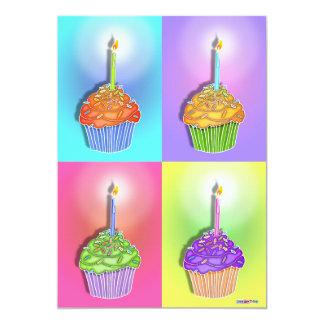 Invitaciones - magdalenas del cumpleaños del arte invitación 12,7 x 17,8 cm