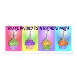 Invitaciones - magdalenas del cumpleaños del arte  invitación