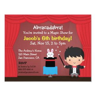 Invitaciones mágicas de la fiesta de cumpleaños invitación 10,8 x 13,9 cm
