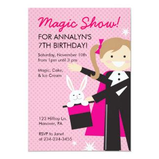 Invitaciones mágicas de la fiesta de cumpleaños de invitaciones personalizada