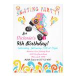 Invitaciones maravillosas del fiesta del patinaje  invitacion personalizada