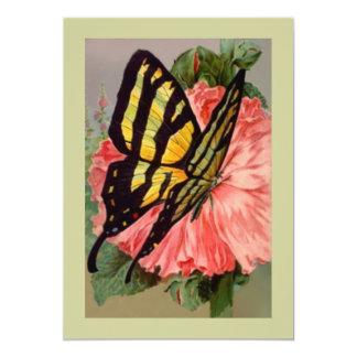 """Invitaciones mariposa y naturaleza del patio invitación 5"""" x 7"""""""