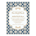 Invitaciones marroquíes del boda de los azules invitación 12,7 x 17,8 cm