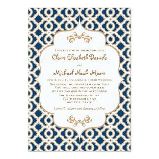 Invitaciones marroquíes del boda de los azules anuncio personalizado
