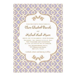 Invitaciones marroquíes del boda del oro purpúreo  invitacion personalizada