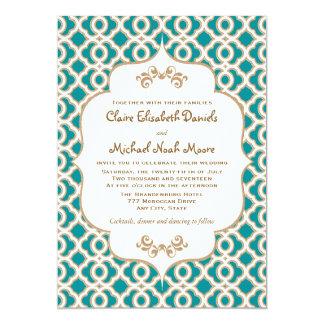 Invitaciones marroquíes del boda del trullo y del invitación 12,7 x 17,8 cm