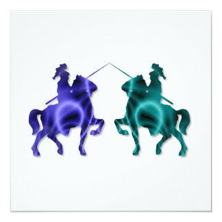 Invitaciones medievales de los caballos comunicado personalizado