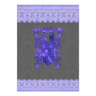 """Invitaciones medievales del boda del papel pintado invitación 5"""" x 7"""""""