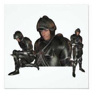 Invitaciones medievales del guerrero anuncios