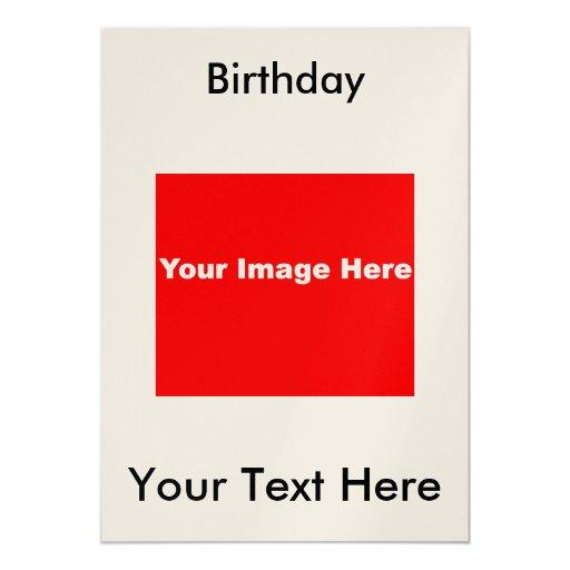 Invitaciones METÁLICAS de la fiesta de cumpleaños Invitación Personalizada
