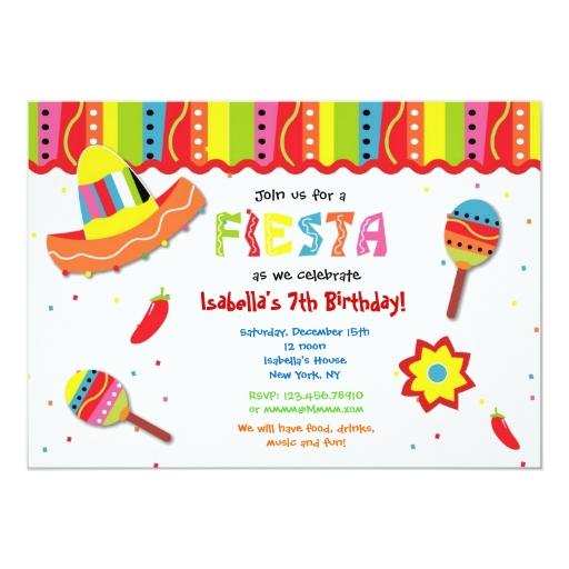"""Invitaciones mexicanas de la fiesta de cumpleaños invitación 5"""" x ..."""