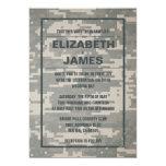 Invitaciones militares del boda del vintage comunicados