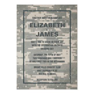 Invitaciones militares del boda del vintage invitación 12,7 x 17,8 cm