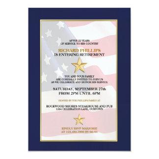 Invitaciones militares del fiesta de retiro invitación 12,7 x 17,8 cm