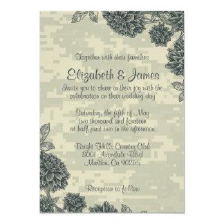 Invitaciones militares elegantes del boda invitación 12,7 x 17,8 cm