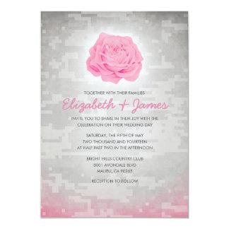 Invitaciones militares florales de moda del boda invitación 12,7 x 17,8 cm
