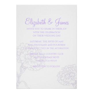 Invitaciones modernas de encargo del boda de la la
