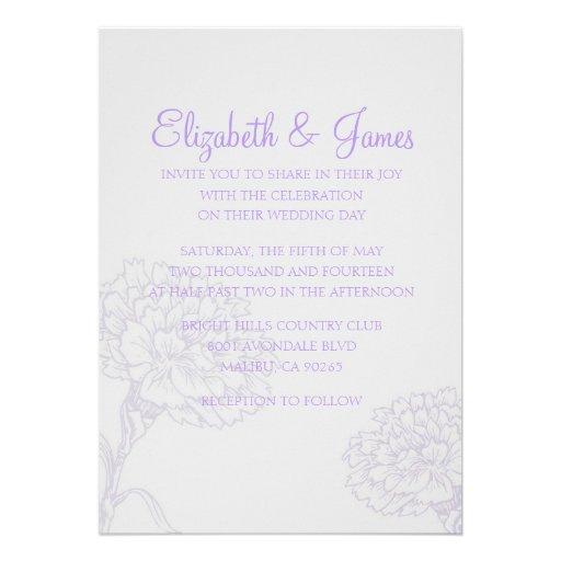 Invitaciones modernas de encargo del boda de la la comunicado personal