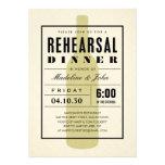 Invitaciones modernas de la cena del ensayo del bo invitaciones personales