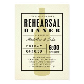 """Invitaciones modernas de la cena del ensayo del invitación 5"""" x 7"""""""