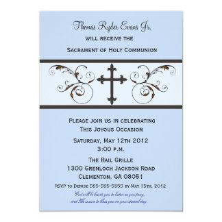 Invitaciones modernas de la comunión para los invitación 12,7 x 17,8 cm