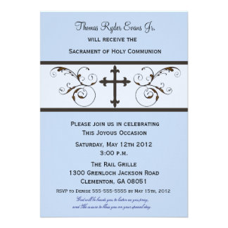 Invitaciones modernas de la comunión para los much