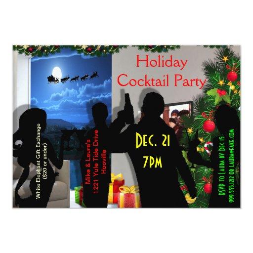 Invitaciones modernas de la fiesta de Navidad Invitación 12,7 X 17,8 Cm