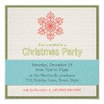 Invitaciones modernas de la fiesta de Navidad Invitación 13,3 Cm X 13,3cm