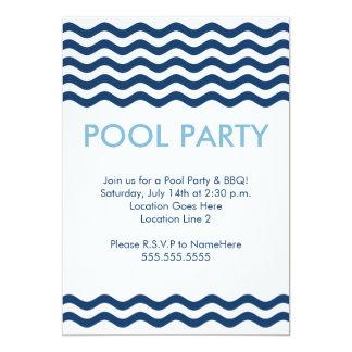 Invitaciones modernas de la fiesta en la piscina invitacion personalizada