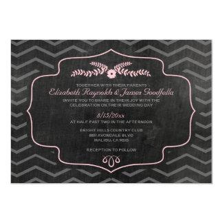 Invitaciones modernas del boda de la pizarra comunicado