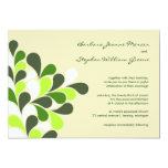 Invitaciones modernas del boda del verde de la anuncios personalizados
