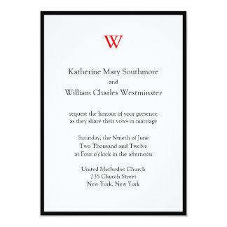 Invitaciones modernas del boda en línea invitación 12,7 x 17,8 cm