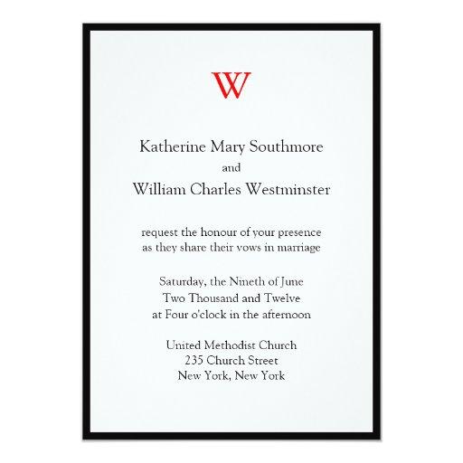Invitaciones modernas del boda en línea comunicado