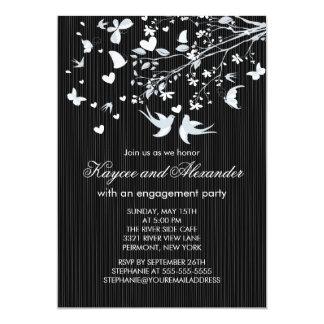 Invitaciones modernas del fiesta de compromiso de anuncio