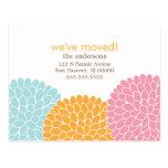 Invitaciones móviles del diseño floral tarjetas postales