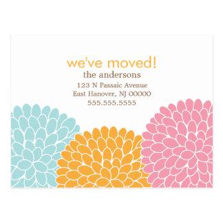 Invitaciones móviles del diseño floral postal