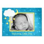 Invitaciones móviles del nacimiento de la nube invitacion personalizada