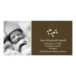 Invitaciones móviles del nacimiento del bebé tarjetas personales con fotos