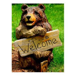 Invitaciones móviles del oso agradable postal