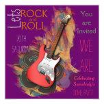 Invitaciones musicales personalizadas de la comunicado personalizado