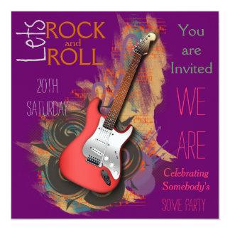 """Invitaciones musicales personalizadas de la invitación 5.25"""" x 5.25"""""""