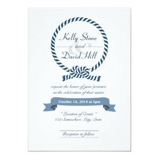 """Invitaciones náuticas con clase del boda del invitación 5"""" x 7"""""""