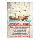 Invitaciones náuticas de la cena del ensayo del anuncio