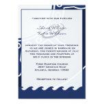 Invitaciones náuticas del boda de los azules invitación 12,7 x 17,8 cm