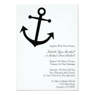 Invitaciones náuticas del boda del ancla del barco comunicados personales