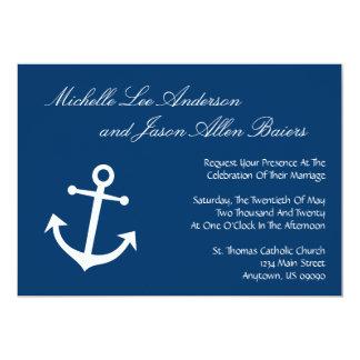 Invitaciones náuticas del boda del ancla del barco invitaciones personales