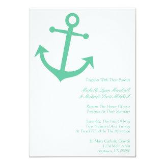 """Invitaciones náuticas del boda del ancla del barco invitación 5"""" x 7"""""""